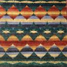a full pattern view of the sioux multi coloured rug from the hali southwest navajo tribal collection
