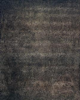 zoomable rug pattern image showing design of the alfredo charcoal hand tufted pure wool rug from the hali collection