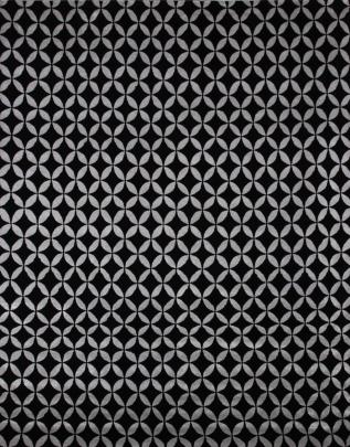zoomable rug pattern image showing design of the tangier black 100% wool rug from the hali himalayan collection
