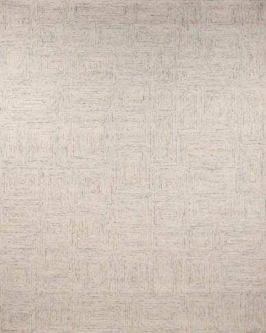 zoomable rug pattern image showing design of the warta white coloured rug from the hali tufted collection
